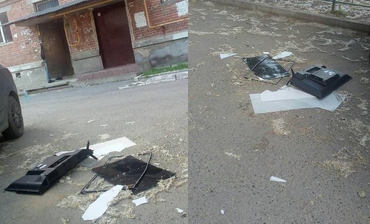 ВСвердловской области разгневанный болельщик выбросил телевизор изокна
