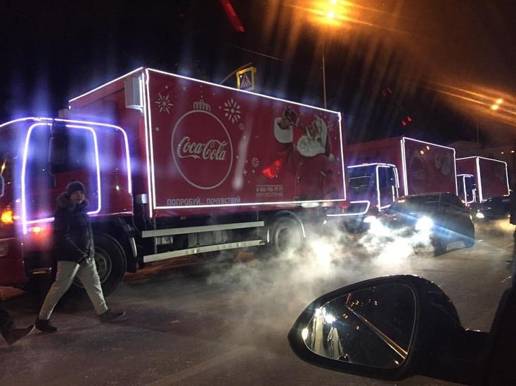 ПоСаранску проедет «Рождественский караван» Coca-Cola
