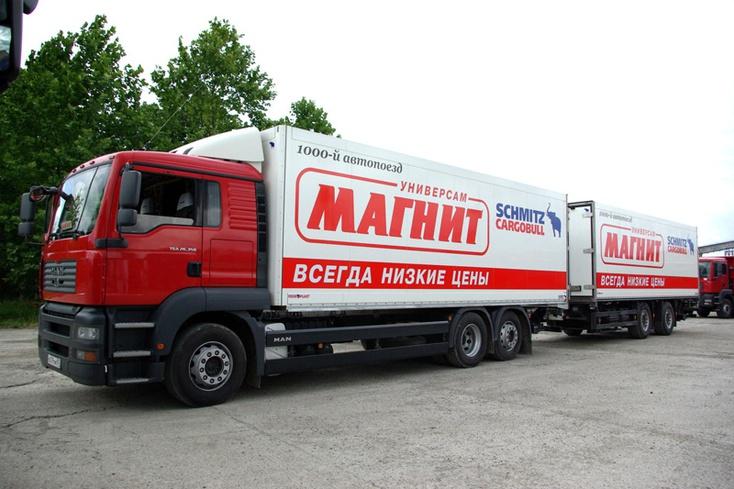 «Магнит» решил отказаться от доставки продуктов в магазины фурами