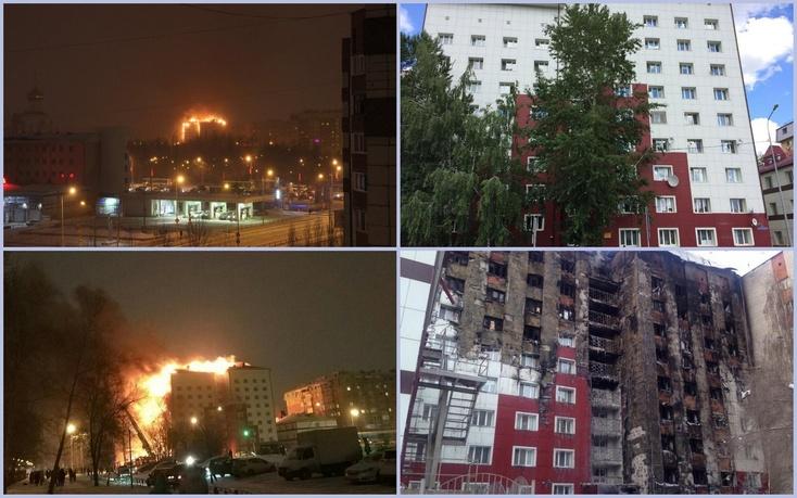 Впожаре втюменской многоэтажке умер один человек